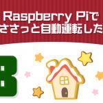 Raspberry Piでさささっと自動運転したい